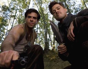 Eli Roth and Brad Pitt are basterds