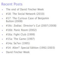 Fincher dominance