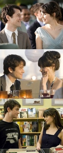500 pictures of Joseph Gordon-Levitt and Zooey Deschanel looking at each other