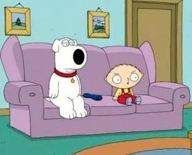 Brian, Stewie, sofa
