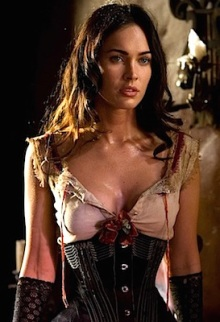 Megan Fox. Who has breasts.