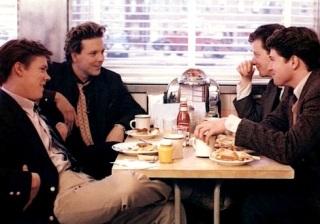 A rare scene in the diner