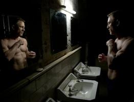 Daniel Craig performing a task