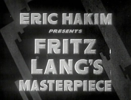 Not Fritz Lang's masterpiece