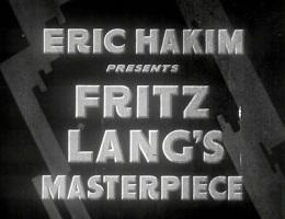Not Fritz Lang's masterpiece