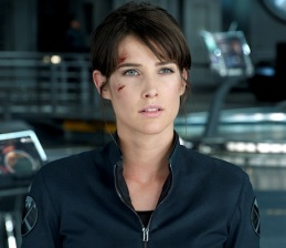 I haven't discussed Maria Hill either, but here's a pretty picture