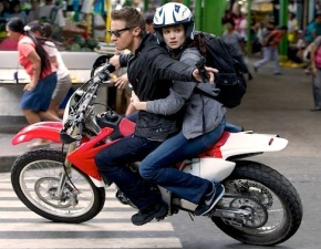 Requisite Bourne movie car chase, with a bike