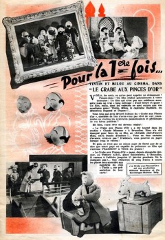 Le Crabe aux Pinces d'Or original advert
