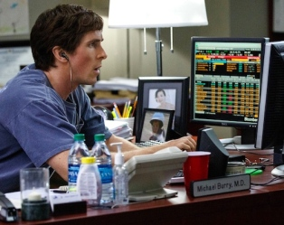 Christian Bale tries to understand the screenplay