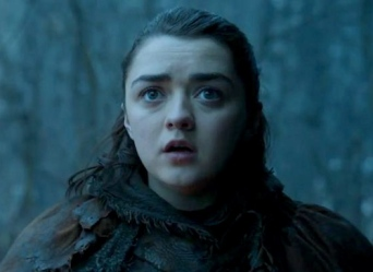 Arya's as surprised as the rest of us