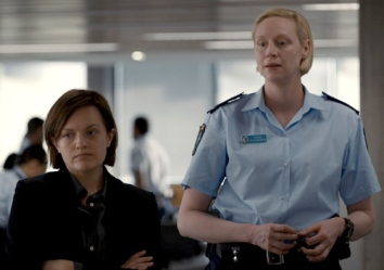 Elisabeth Moss and Gwendoline Christie