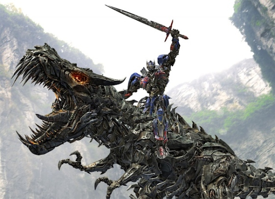 A robot knight riding a robot dinosaur, as you do