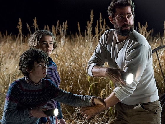 The family that stays together fights sound-hunting aliens together