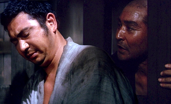Zatoichi with the doomed man