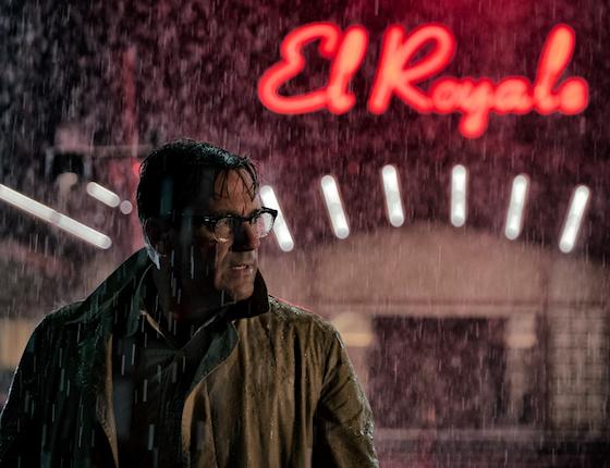Heavy rain at the El Royale