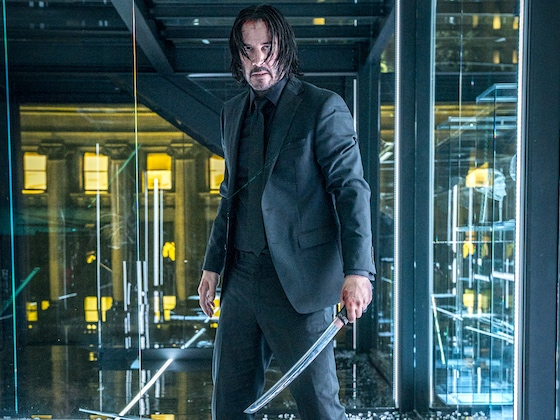 A hundred bad guys with swords? Who sent those goons to their lords? Why, John Wick!