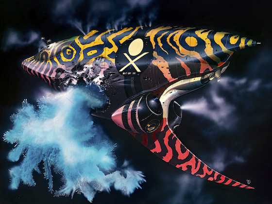 A Chris Foss spaceship design for Dune