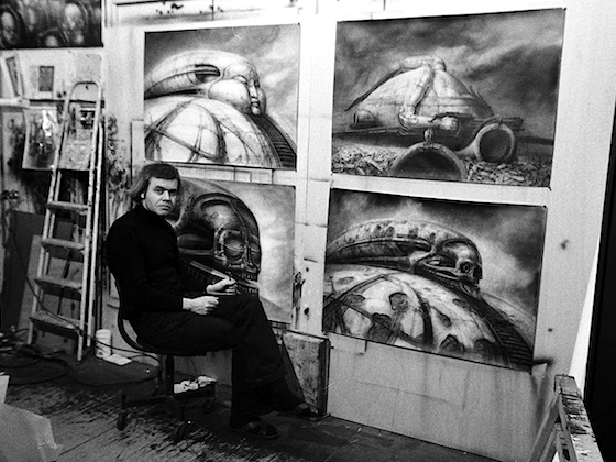 Giger at work on Dune